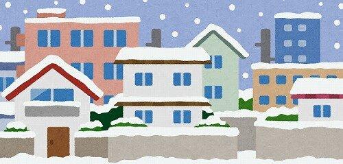 s-20210102雪が積もる住宅街