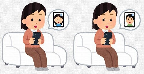 s-20200525ビデオ通話のイラスト女性