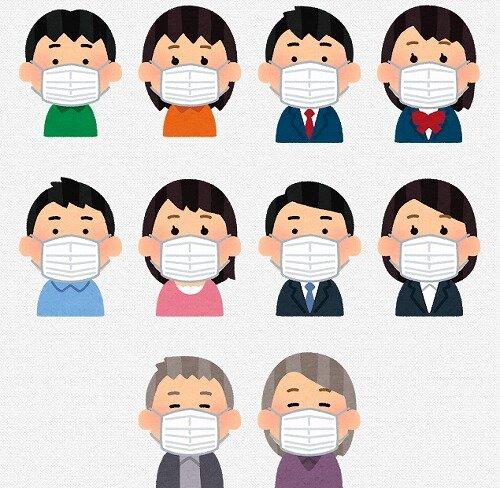s-20200414マスクをしている人々