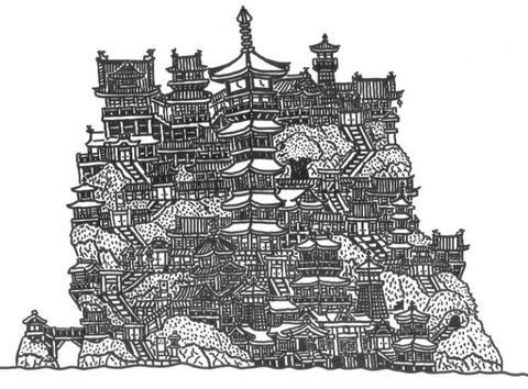 仏教建築の島