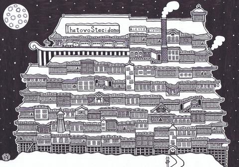 銀河鉄道駅の夜