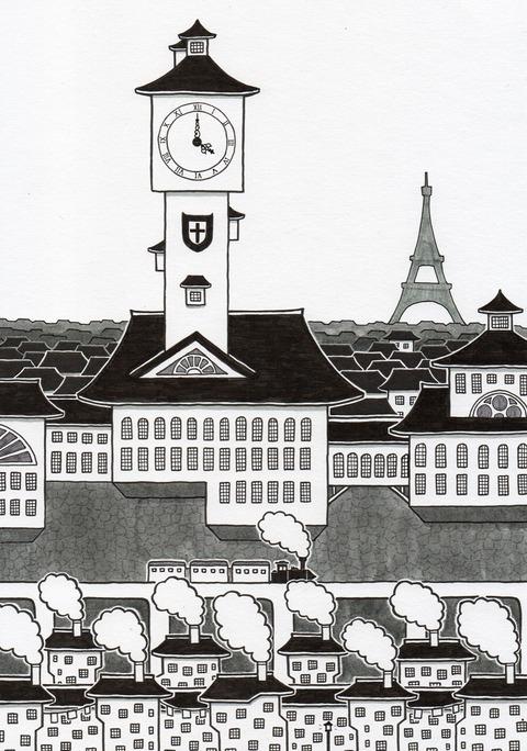 時計塔のある町 - コピー