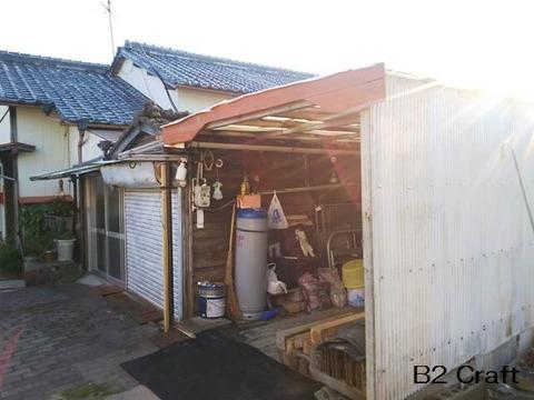 本家の車庫修理