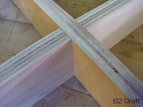 組み木のクロス部