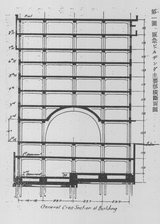 図1-1 阪急ビル横断図