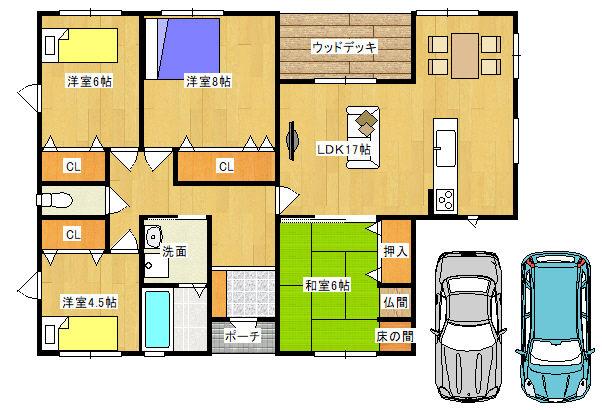 プラン大県 新築平屋