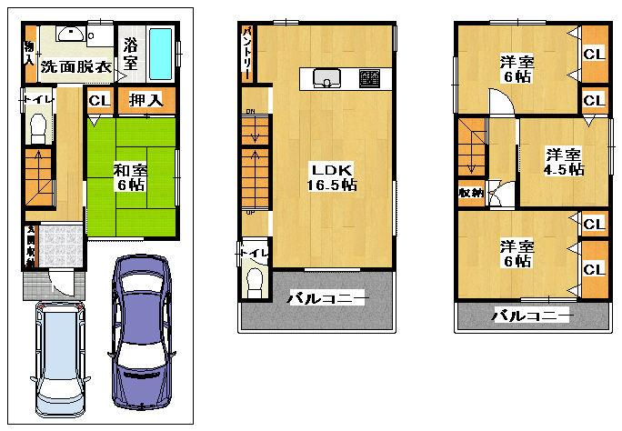 八尾市西山本町4丁目(新築)最終3階建