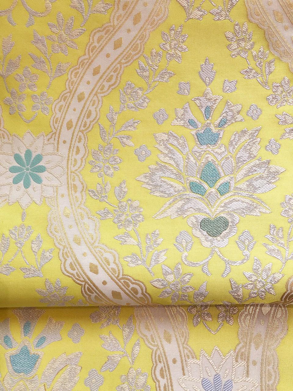となみ織物の更紗模様の袋帯 和を着る 楽しむ はんなりのブログ