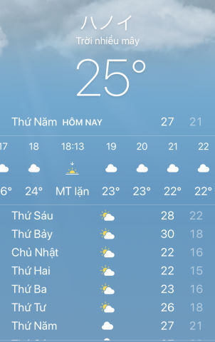 去年の今日の気温