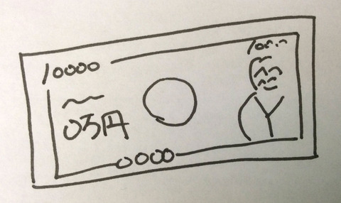 お金1万円