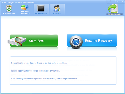 Wise Damaged Partition Recovery Pro