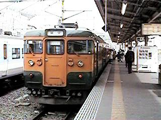 身延線115系(甲府駅、1997年3月)