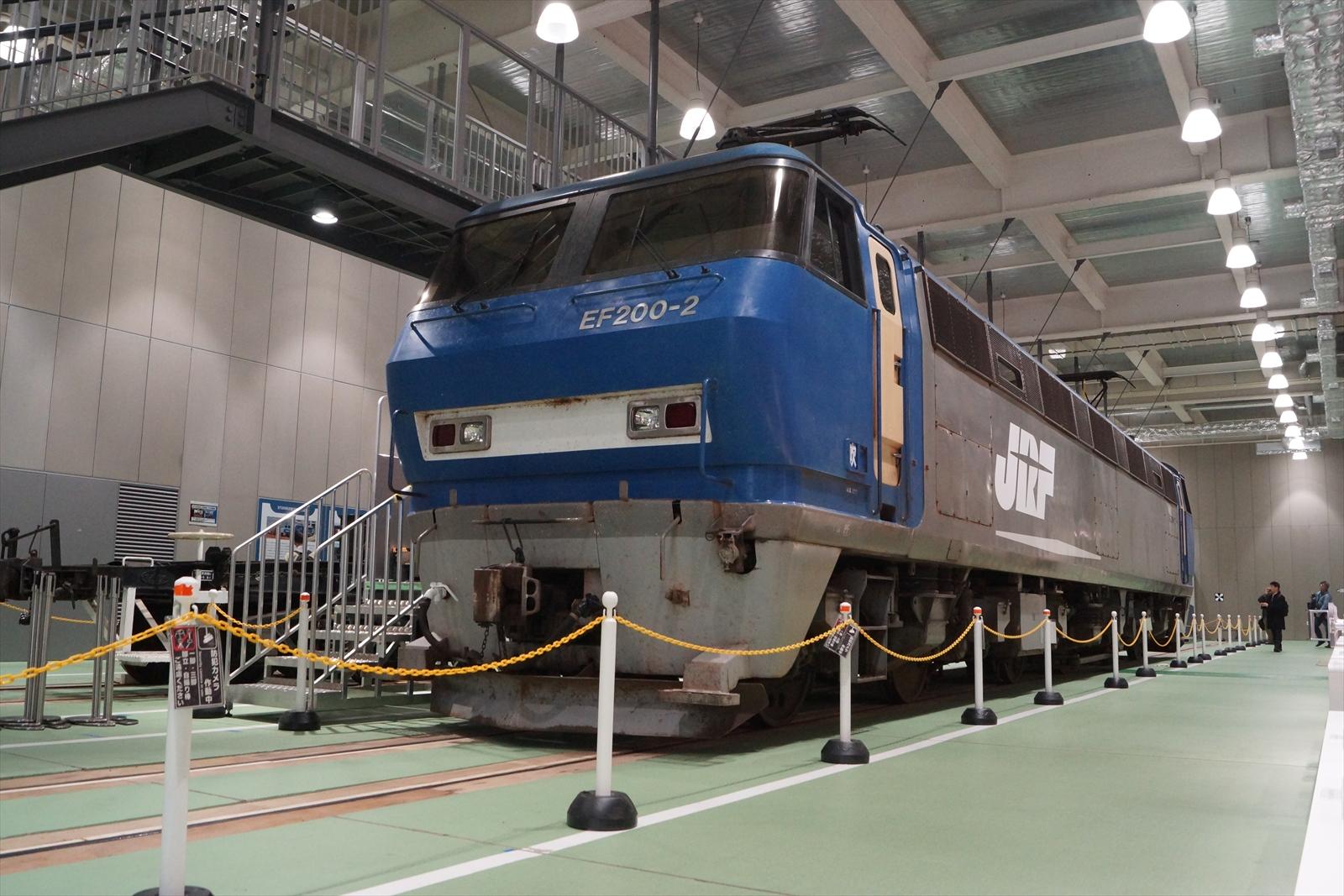 営業運転終了後に京都鉄道博物館で展示されたEF200形