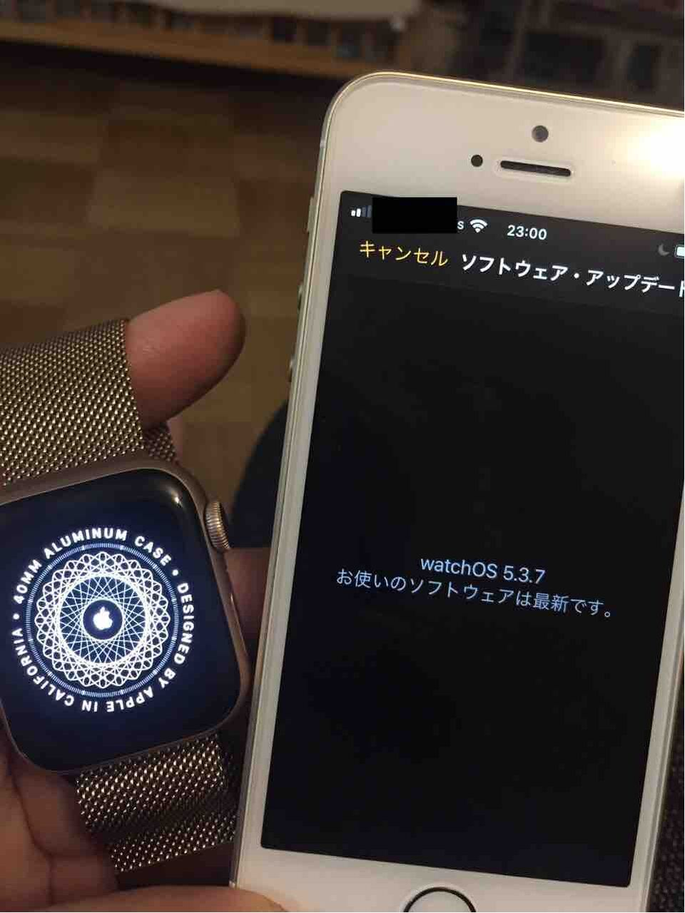 アップデート apple watch