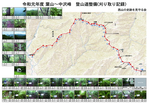 登山道整備(刈り取り記録)2019