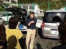 宮戸島、リンゴ届け 2011.11.12