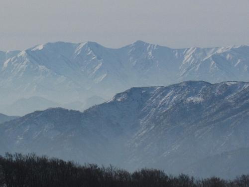 長井葉山から見た飯豊・北股岳(IMG_7155)