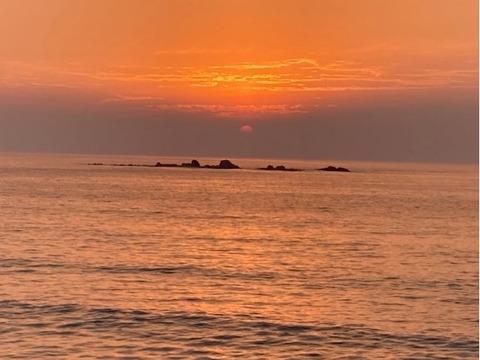 志摩野北夏至の夕日20210621