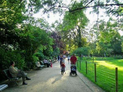 モンソー公園 ジョギング