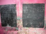 スラムの黒板