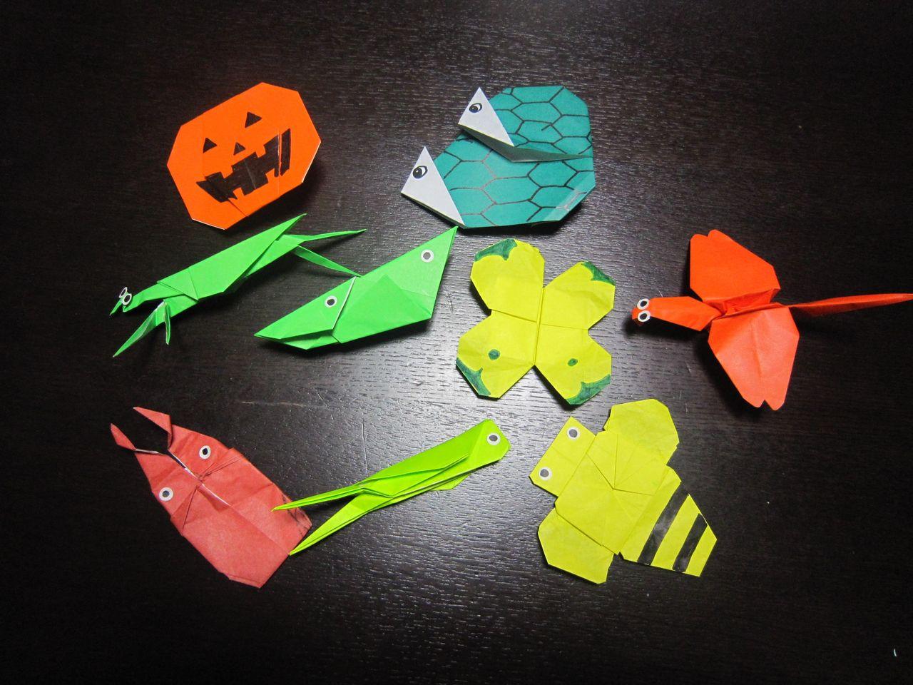 すべての折り紙 折り紙 カマキリ 折り方 : ネットで色々、折り紙の折り方 ...