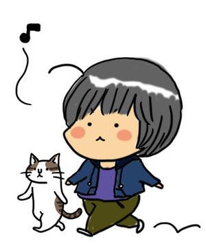 猫遊びに来る1