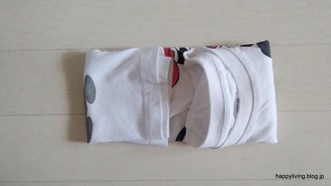 Tシャツ コンパクトに畳む (5)