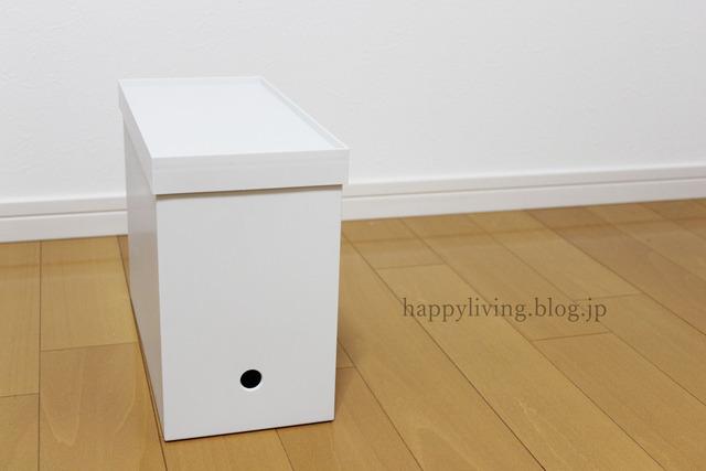 ideaco 無印 キャスター フタ ファイルボックス  ゴミ箱 (2)
