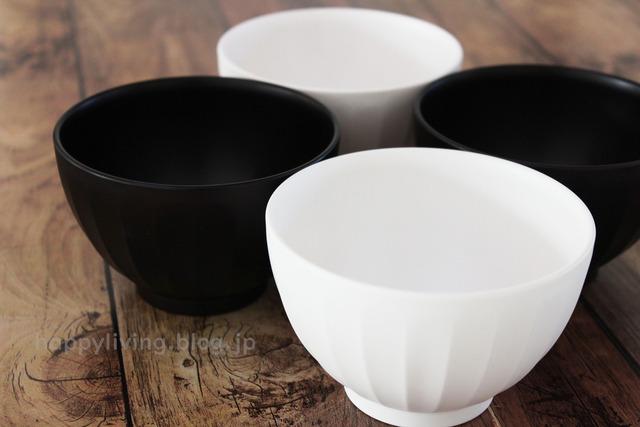 カインズ モノトーン お椀 白黒 インテリア 食器 (4)