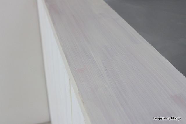 カウンター 塗り替え 100均 ミルクペイント アースホワイト (1)