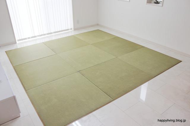 和紙畳 リビング 床暖 インテリア 広く フラット (6)