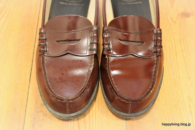 ダイソー 靴磨きグッズ 100均 ローファー (6)