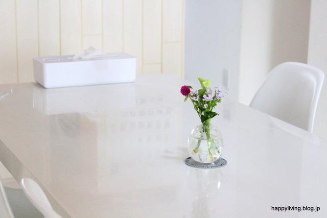 片付け ダイニングテーブル ホワイトインテリア スッキリ (3)
