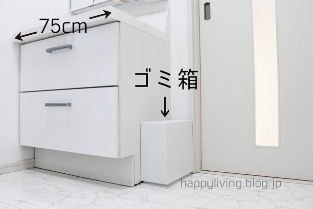 洗面所 ゴミ箱 家づくり 洗面台 イデアコ (2)