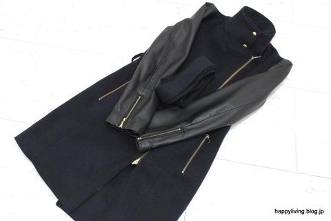 袖が革のコート 自宅で洗濯 (5)