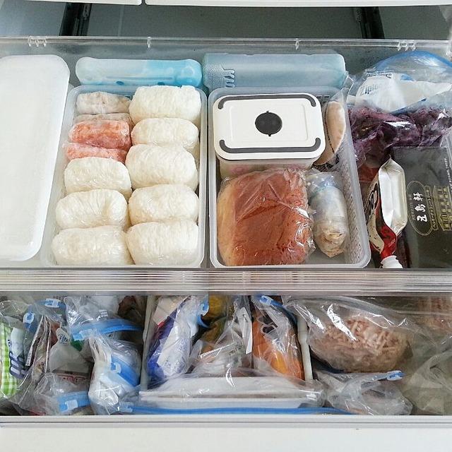 ごはん 冷凍 形 ラップ 冷凍庫 収納 冷蔵庫 (1)