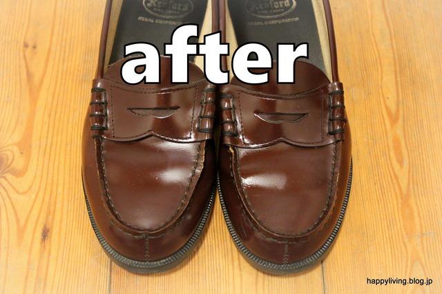 ダイソー 靴磨きグッズ 100均 ローファー (3)
