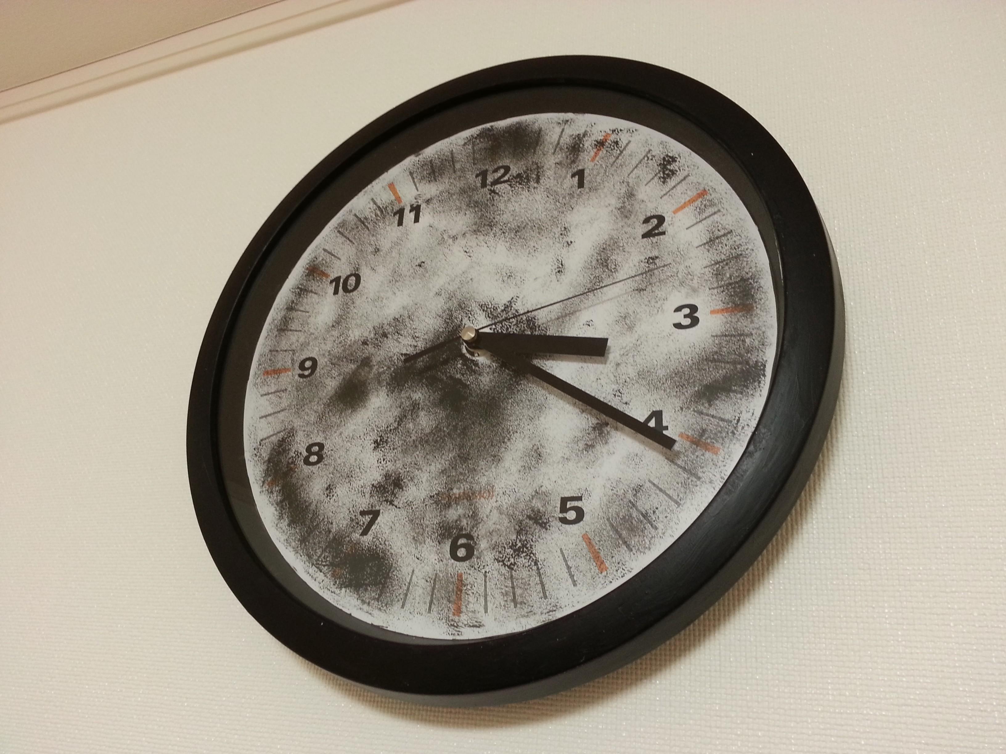 子供部屋 男の子 時計 リメイク アクリル絵の具