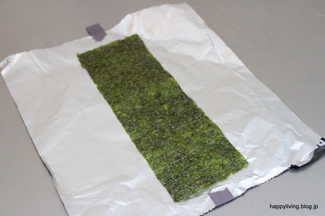 アルミホイル マスキングテープ パリパリ海苔 おにぎり (4)