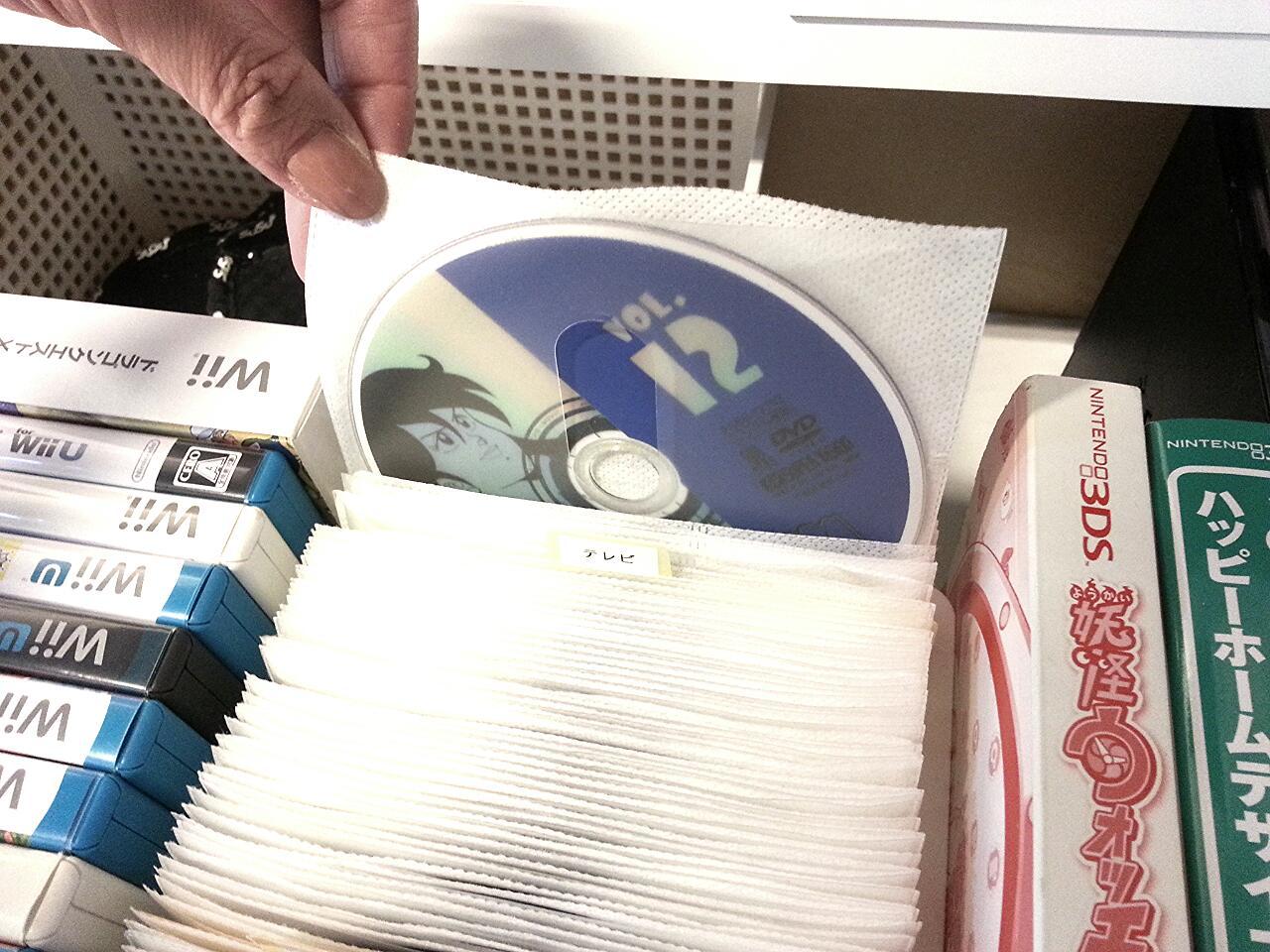 DVD CD 収納 不織布ケース