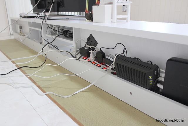 ホワイトインテリア 畳コーナー リビング テレビボード (3)