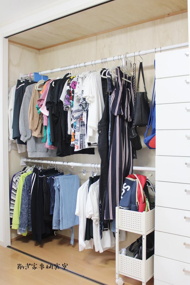 子供部屋 女の子 クローゼット 洋服収納 (7)
