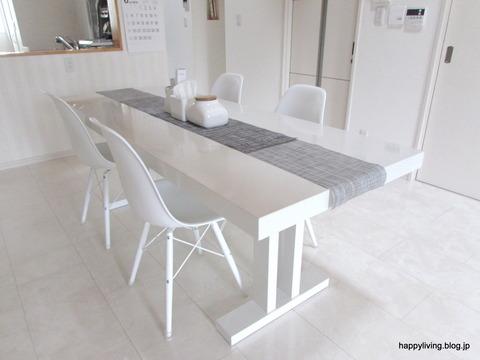 ホワイトインテリア ダイソー テーブルランナー