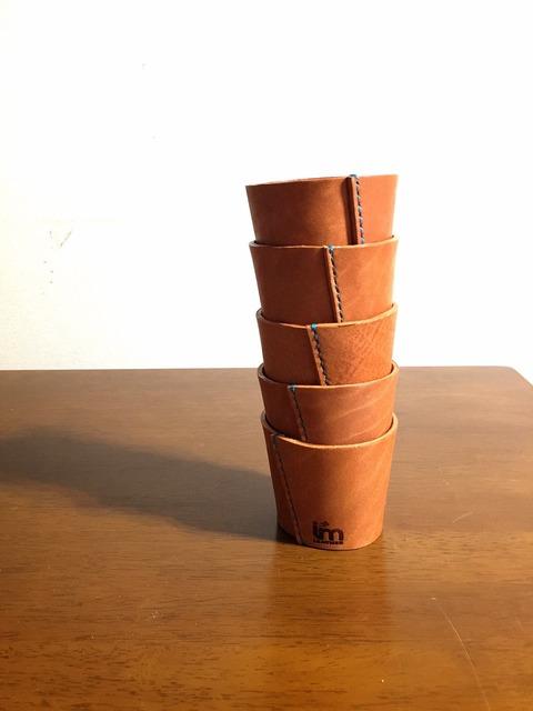紙コップ ホルダー 革