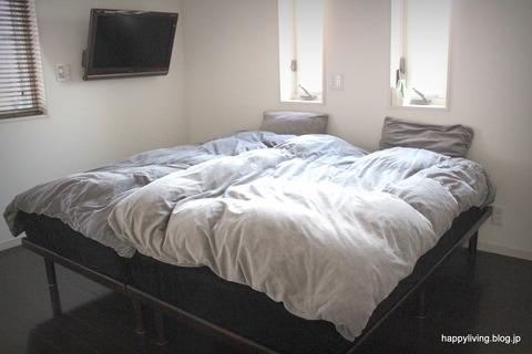 寝室 掃除ラク ベッドパット シンプル
