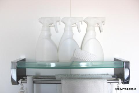お風呂 掃除道具 白 スプレーボトル 無印良品