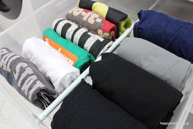 ラク家事 洋服収納 明日の服 パジャマ 脱衣所 (1)