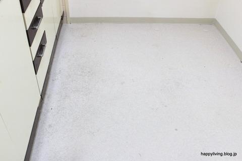 実演お掃除セミナー キッチン床 before