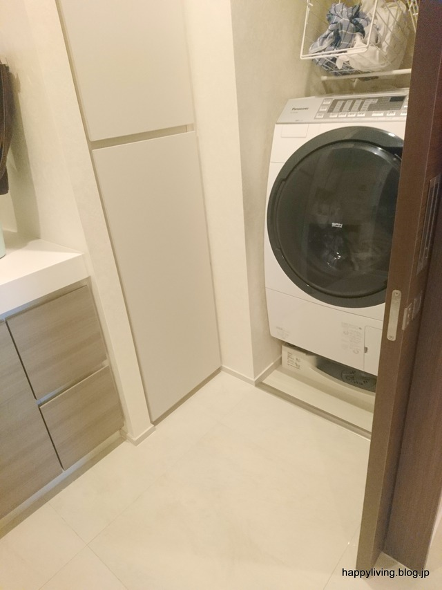 洗濯カゴ つっぱり棒 収納 邪魔 (1)
