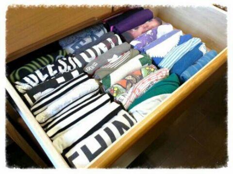 引き出し 収納 つっぱり棒 仕切り Tシャツ